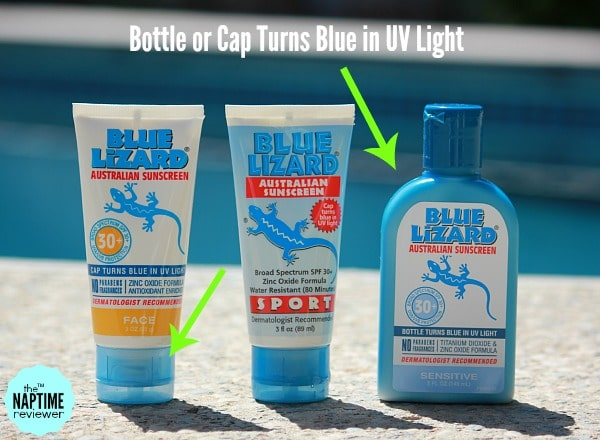 Image result for blue lizard sunscreen turns blue