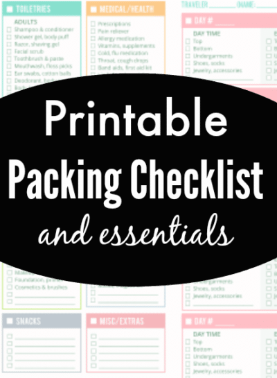 Packing Checklist and Essentials for Families On-The-Go
