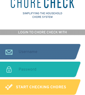 Chore Check App for Parents and Kids
