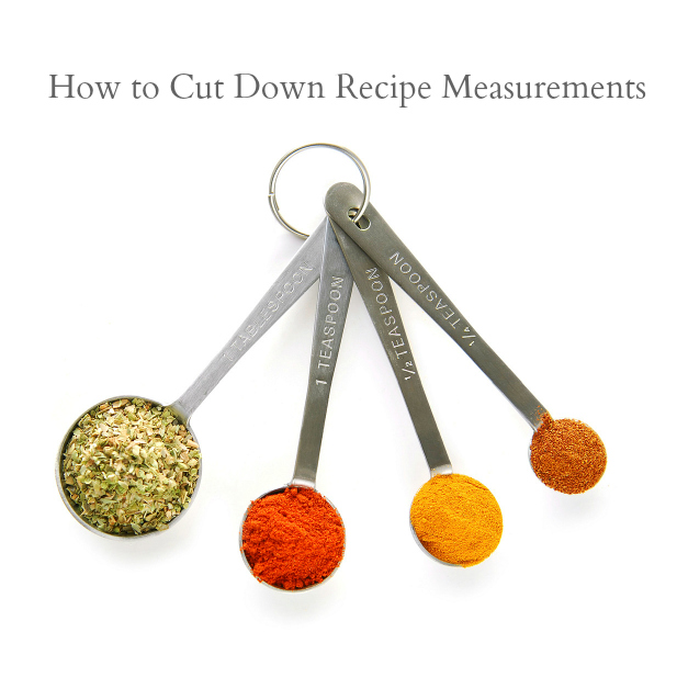 How to Cut Down Recipe Measurements