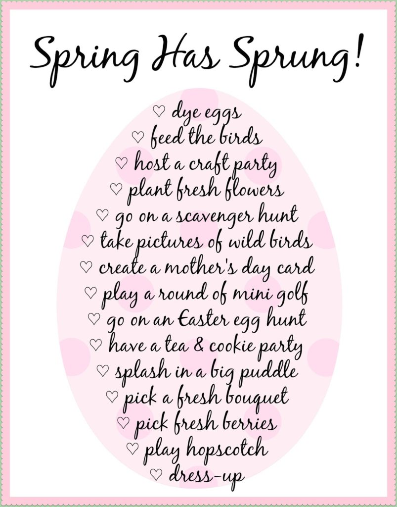 free printable spring bucket list for kids the naptime reviewer