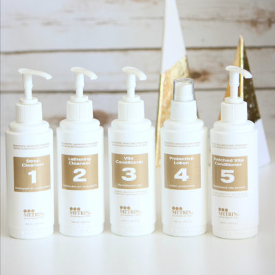 How to Use the Metrin 5-Step Skincare System
