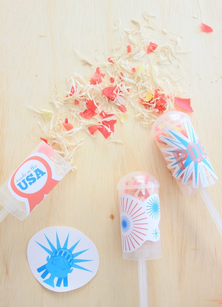 Safe Reusable Eco Friendly Confetti Poppers For Kids For 4th Of