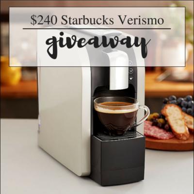 Starbucks Verismo Coffee Maker Giveaway