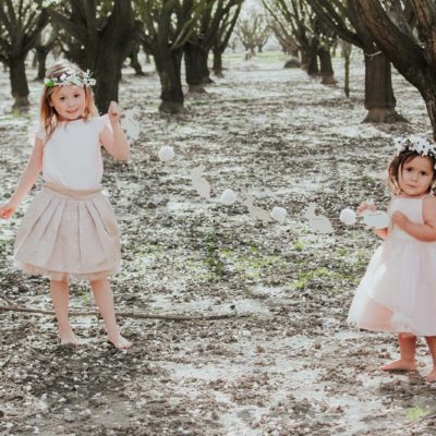 Oh…My! London Kidswear — Chic Spring and Easter Looks for Girls & Almond Blossom Photo Ideas
