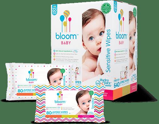 bloom Baby wipes variety of packaging