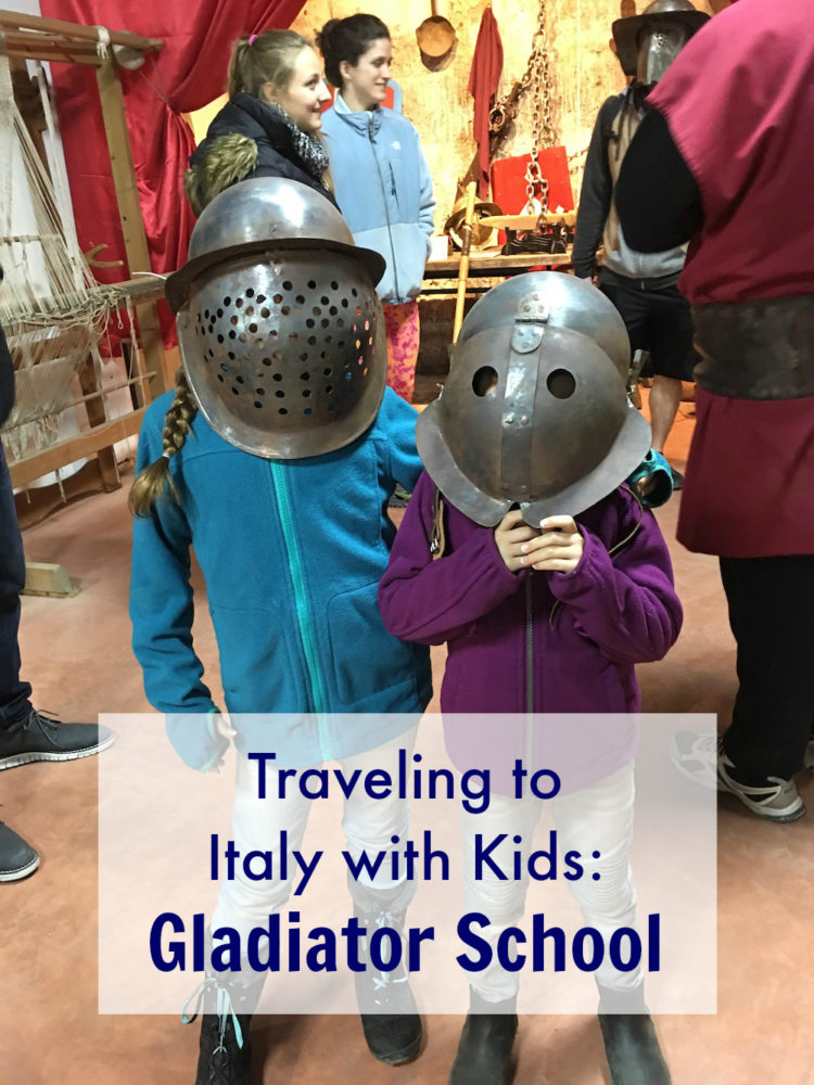 Traveling to Italy with Kids: Roman Gladiator School Review