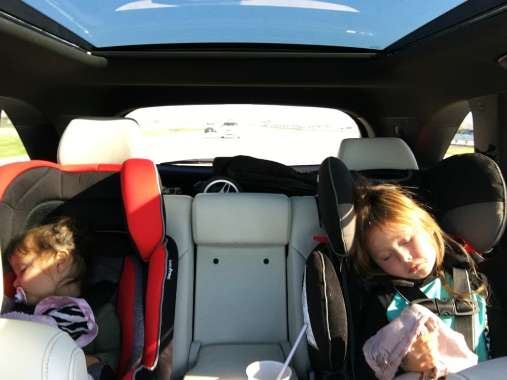car seats sleeping kids