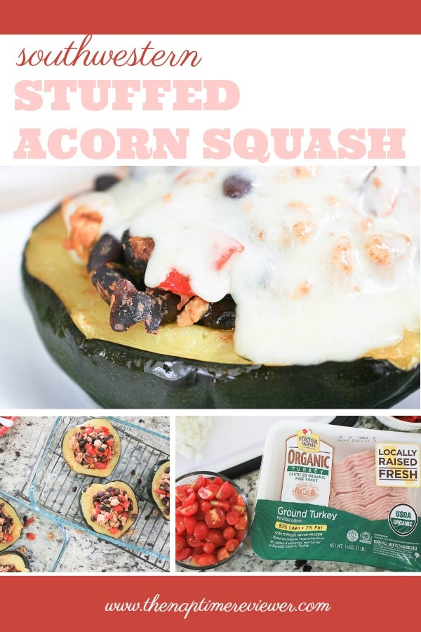 Southwestern Stuffed Acorn Squash Recipe - Ground Turkey