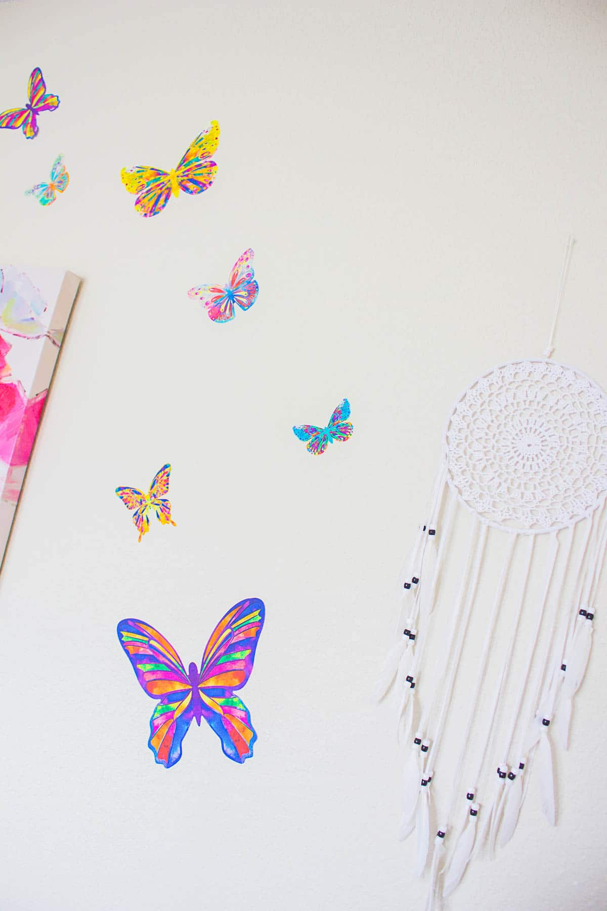Butterfly Wall Decals - Butterfly Bedroom Ideas - The Naptime Reviewer