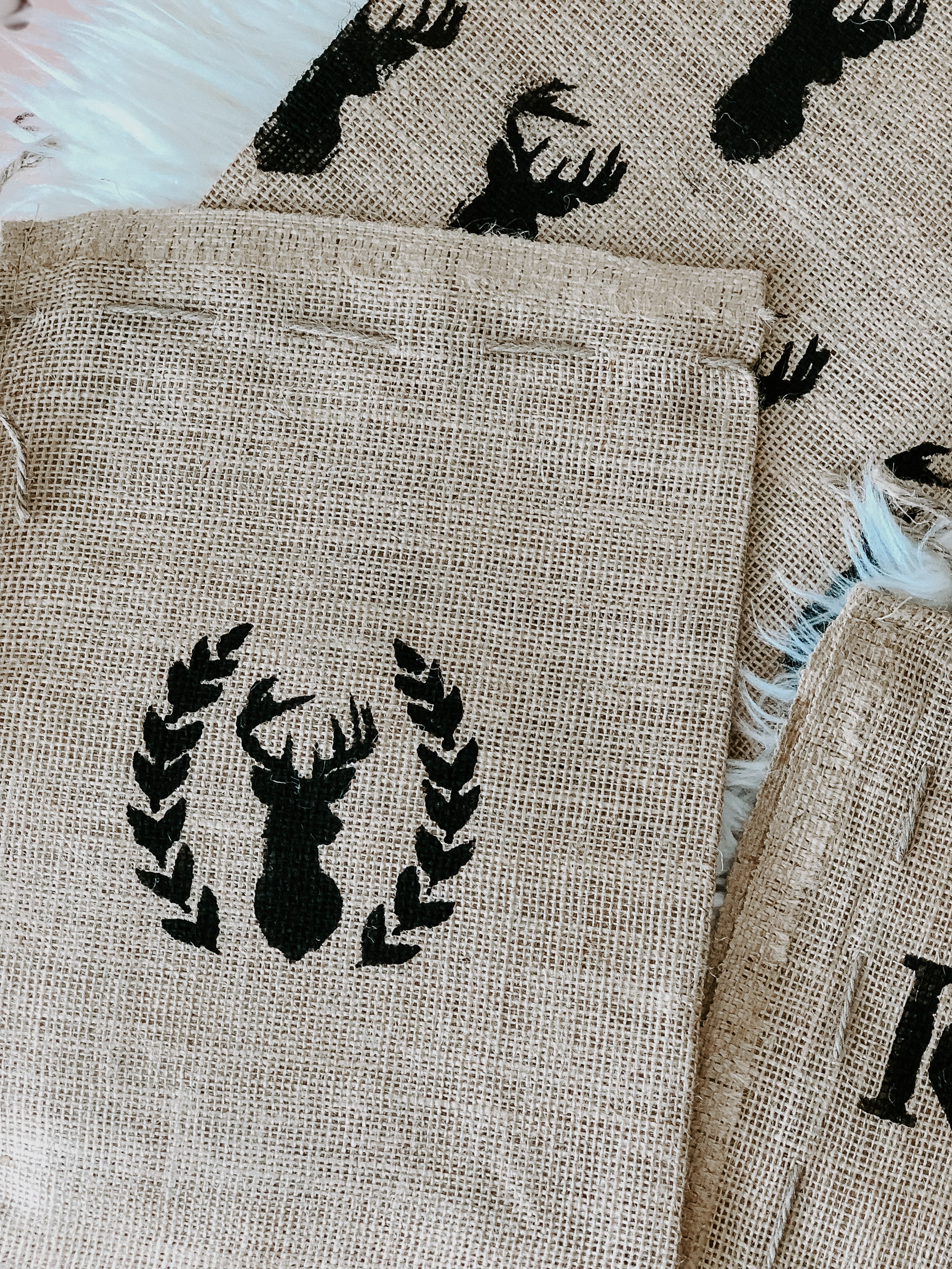 Personalized Burlap Gift Bags