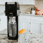 SodaStream Power Machine, with Lemon sparkling water