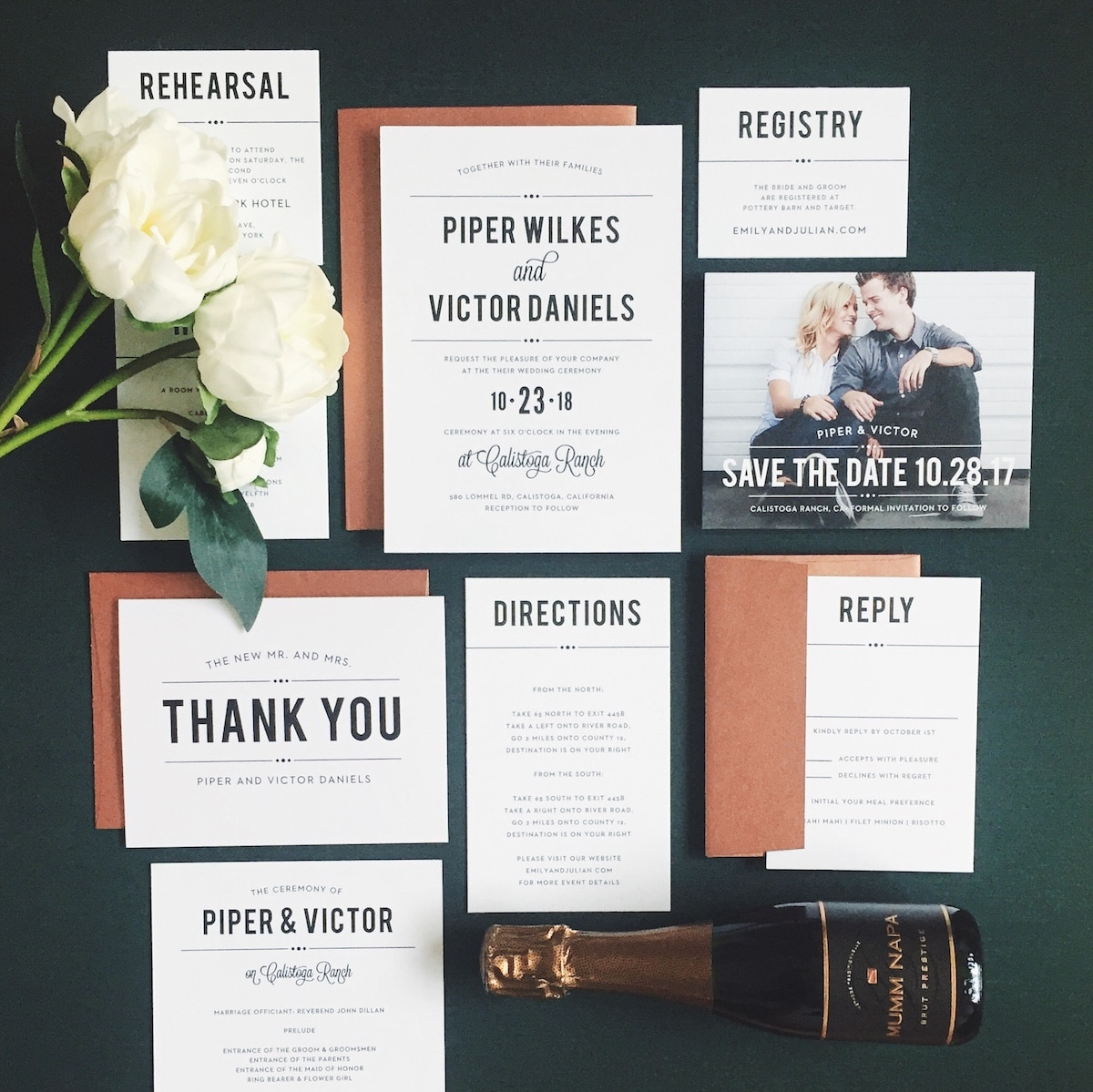 Bold, Vintage wedding invitation design trends