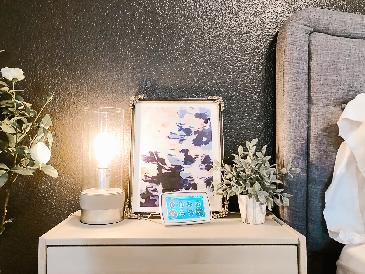 Baby Monitor parent's unit on nightstand