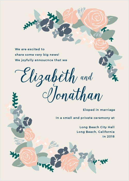 Elopement Wedding Invitation