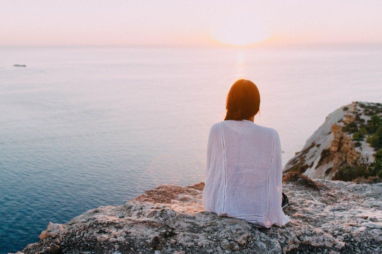 relaxing sunset ocean view