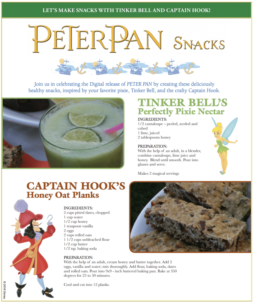 Peter Pan Party recipes