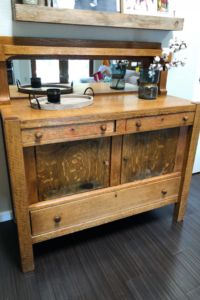 My Refurbished Bar Credenza | The Plan