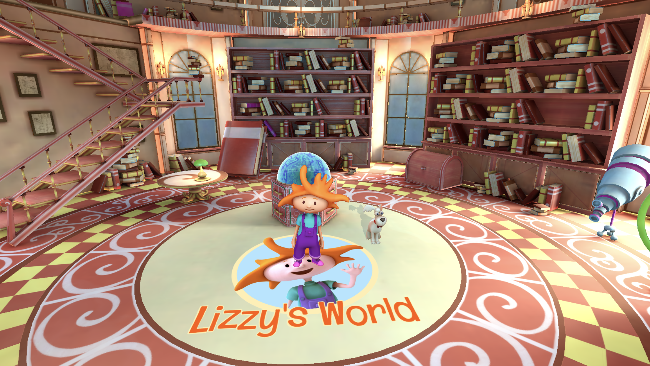 Lizzy's World AR app for preschoolers