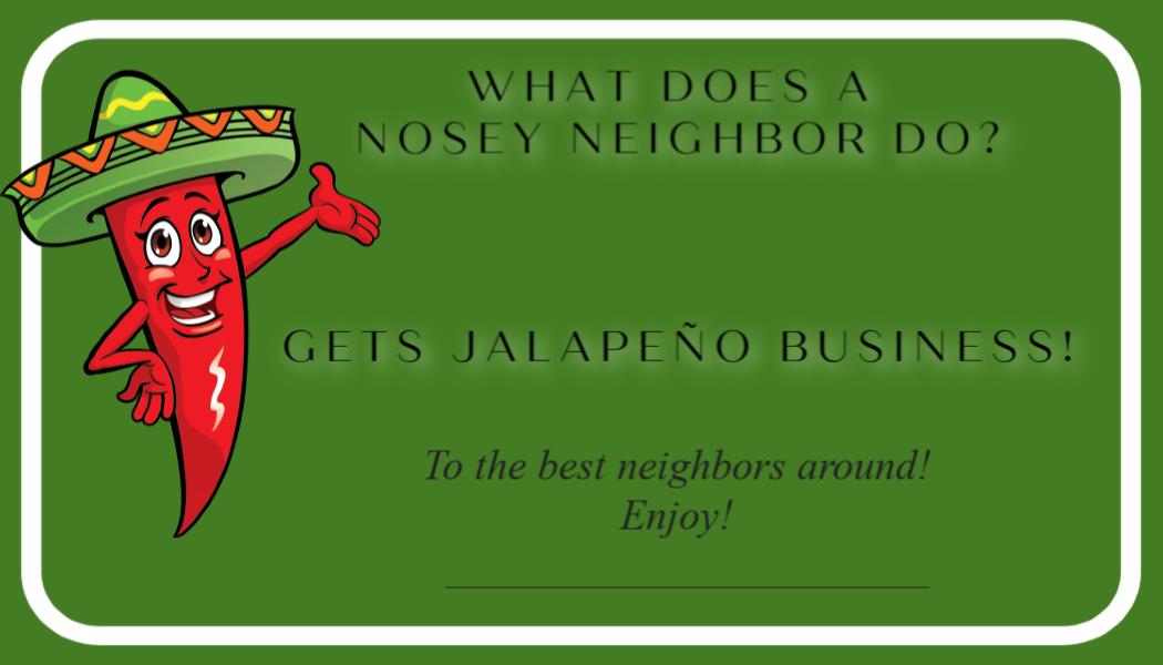 Jalapeno Business printable
