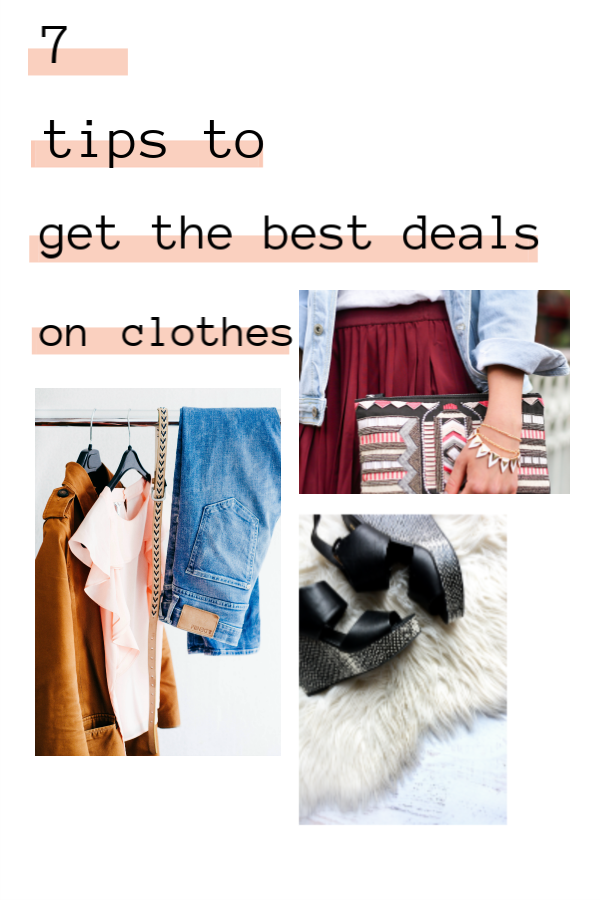 7 Tips to get the best deals on clothes